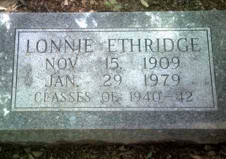ETHRIDGE, LONNIE - Jackson County, Arkansas | LONNIE ETHRIDGE - Arkansas Gravestone Photos