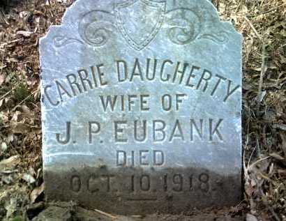 DAUGHERTY EUBANK, CARRIE - Jackson County, Arkansas | CARRIE DAUGHERTY EUBANK - Arkansas Gravestone Photos