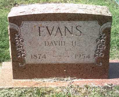 EVANS, DAVID HARRISON - Jackson County, Arkansas | DAVID HARRISON EVANS - Arkansas Gravestone Photos