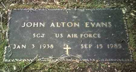 EVANS (VETERAN), JOHN ALTON - Jackson County, Arkansas | JOHN ALTON EVANS (VETERAN) - Arkansas Gravestone Photos