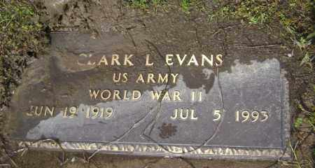 EVANS (VETERAN WWII), CLARK L - Jackson County, Arkansas | CLARK L EVANS (VETERAN WWII) - Arkansas Gravestone Photos