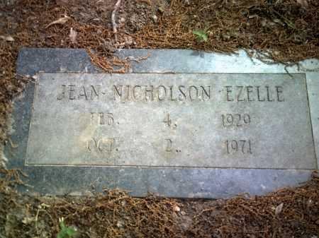 NICHOLSON EZELLE, JEAN - Jackson County, Arkansas | JEAN NICHOLSON EZELLE - Arkansas Gravestone Photos