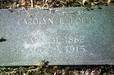 FOLKS, CAROLYN F - Jackson County, Arkansas | CAROLYN F FOLKS - Arkansas Gravestone Photos