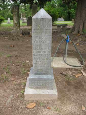 FOUSHEE, ELZA CLYDE - Jackson County, Arkansas | ELZA CLYDE FOUSHEE - Arkansas Gravestone Photos