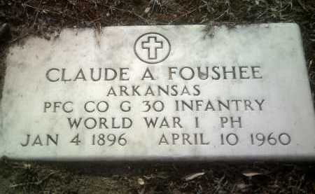 FOUSHEE (VETERAN WWI), CLAUDE A - Jackson County, Arkansas | CLAUDE A FOUSHEE (VETERAN WWI) - Arkansas Gravestone Photos