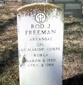 FREEMAN (VETERAN KOR), ROD J - Jackson County, Arkansas | ROD J FREEMAN (VETERAN KOR) - Arkansas Gravestone Photos