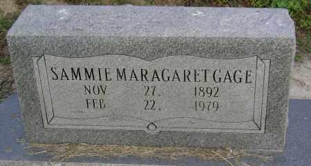GAGE, SAMMIE MARAGARET - Jackson County, Arkansas | SAMMIE MARAGARET GAGE - Arkansas Gravestone Photos