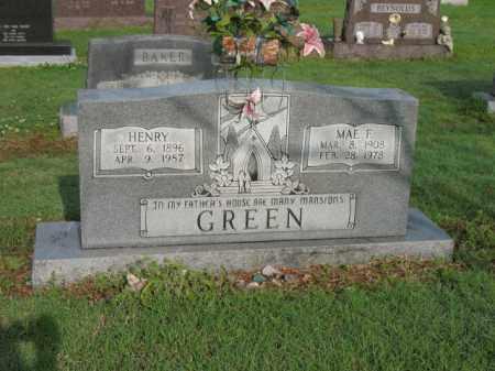 GREEN, MAE F - Jackson County, Arkansas | MAE F GREEN - Arkansas Gravestone Photos