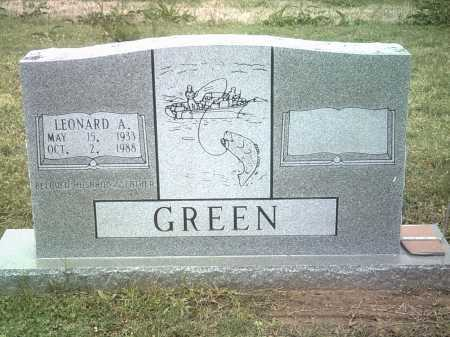 GREEN, LEONARD A - Jackson County, Arkansas | LEONARD A GREEN - Arkansas Gravestone Photos