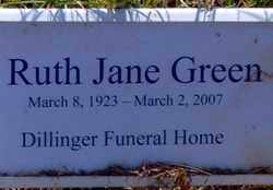 GREEN, RUTH JANE - Jackson County, Arkansas | RUTH JANE GREEN - Arkansas Gravestone Photos