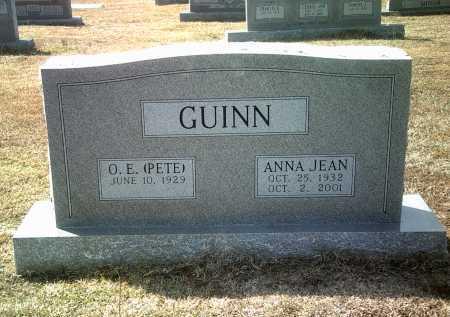 GUINN, ANNA JEAN - Jackson County, Arkansas   ANNA JEAN GUINN - Arkansas Gravestone Photos