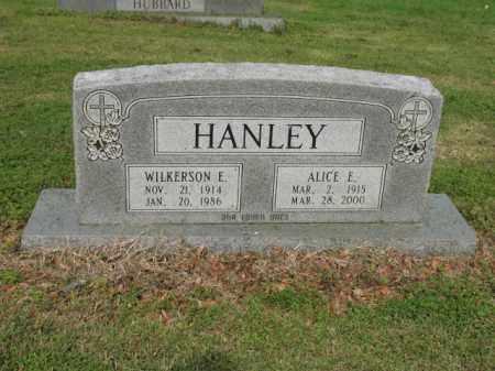 HANLEY, ALICE E - Jackson County, Arkansas | ALICE E HANLEY - Arkansas Gravestone Photos