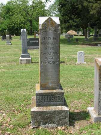 HARDISTER, DR N G - Jackson County, Arkansas | DR N G HARDISTER - Arkansas Gravestone Photos