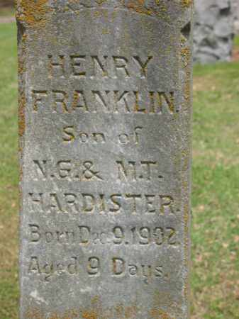 HARDISTER, HENRY FRANKLIN - Jackson County, Arkansas | HENRY FRANKLIN HARDISTER - Arkansas Gravestone Photos