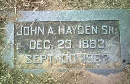 HAYDEN, SR, JOHN ABRAM - Jackson County, Arkansas | JOHN ABRAM HAYDEN, SR - Arkansas Gravestone Photos