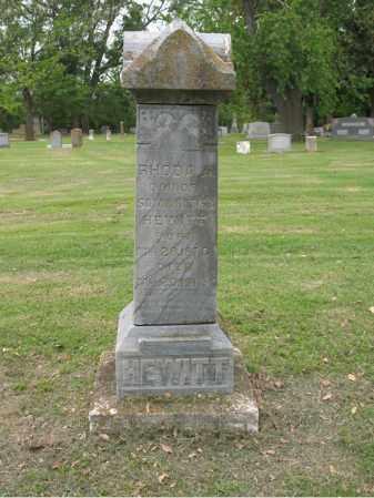 HEWITT, RHODA A - Jackson County, Arkansas | RHODA A HEWITT - Arkansas Gravestone Photos