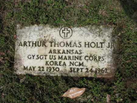 HOLT, JR (VETERAN KOR), ARTHUR THOMAS - Jackson County, Arkansas | ARTHUR THOMAS HOLT, JR (VETERAN KOR) - Arkansas Gravestone Photos