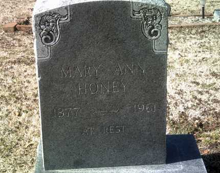 HONEY, MARY ANN - Jackson County, Arkansas | MARY ANN HONEY - Arkansas Gravestone Photos