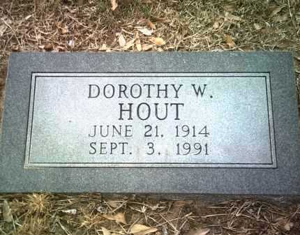 HOUT, DOROTHY W - Jackson County, Arkansas | DOROTHY W HOUT - Arkansas Gravestone Photos