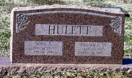 HULETT, SR, WILLIAM O - Jackson County, Arkansas | WILLIAM O HULETT, SR - Arkansas Gravestone Photos