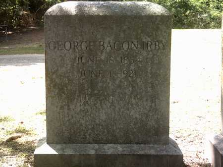 IRBY, GEORGE BACON - Jackson County, Arkansas | GEORGE BACON IRBY - Arkansas Gravestone Photos