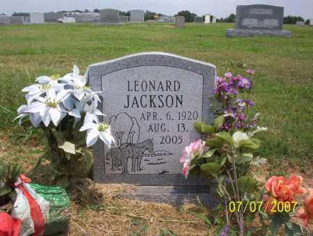 JACKSON, LEONARD - Jackson County, Arkansas | LEONARD JACKSON - Arkansas Gravestone Photos