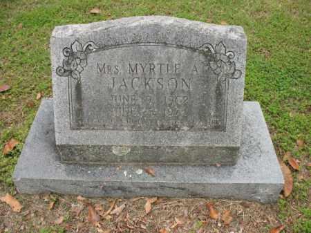 JACKSON, MYRTLE A - Jackson County, Arkansas | MYRTLE A JACKSON - Arkansas Gravestone Photos