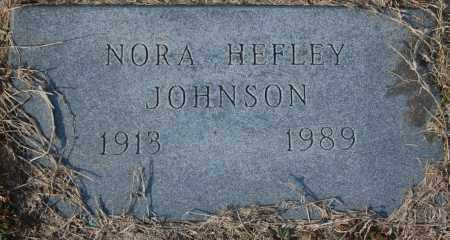 JOHNSON, NORA HEFLEY - Jackson County, Arkansas | NORA HEFLEY JOHNSON - Arkansas Gravestone Photos