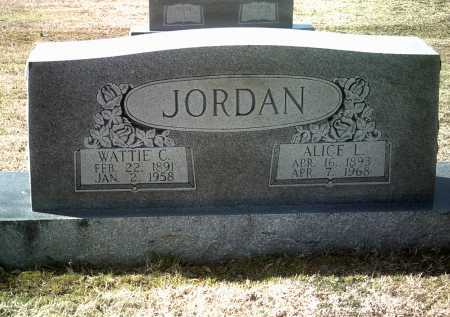 JORDAN, ALICE L - Jackson County, Arkansas | ALICE L JORDAN - Arkansas Gravestone Photos