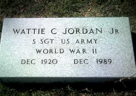 JORDAN, JR (VETERAN WWII), WATTIE C - Jackson County, Arkansas | WATTIE C JORDAN, JR (VETERAN WWII) - Arkansas Gravestone Photos