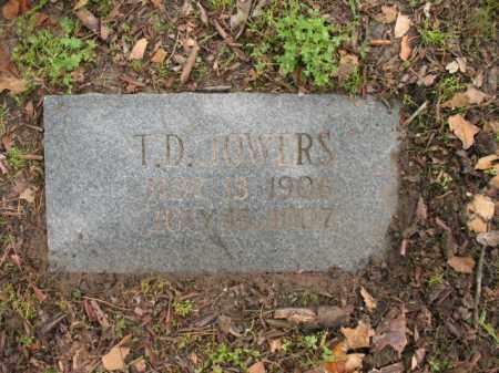 JOWERS, T D - Jackson County, Arkansas | T D JOWERS - Arkansas Gravestone Photos