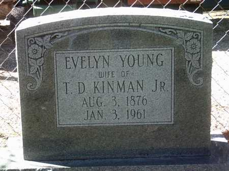 YOUNG KINMAN, EVELYN - Jackson County, Arkansas | EVELYN YOUNG KINMAN - Arkansas Gravestone Photos