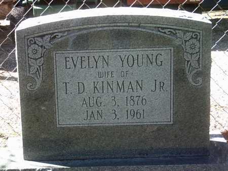 KINMAN, EVELYN - Jackson County, Arkansas | EVELYN KINMAN - Arkansas Gravestone Photos