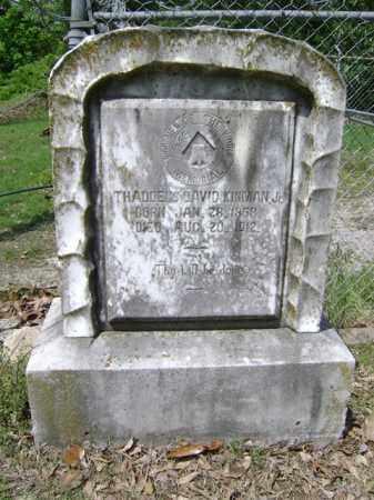 KINMAN, JR, THADDEUS DAVID - Jackson County, Arkansas | THADDEUS DAVID KINMAN, JR - Arkansas Gravestone Photos