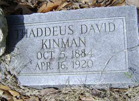 KINMAN, THADDEUS DAVID - Jackson County, Arkansas | THADDEUS DAVID KINMAN - Arkansas Gravestone Photos