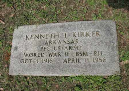 KIRKER (VETERAN WWII), KENNETH T - Jackson County, Arkansas | KENNETH T KIRKER (VETERAN WWII) - Arkansas Gravestone Photos