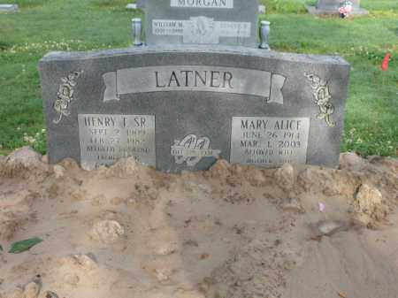 LATNER, MARY ALICE - Jackson County, Arkansas | MARY ALICE LATNER - Arkansas Gravestone Photos