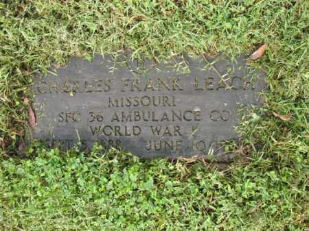 LEACH (VETERAN WWI), CHARLES FRANK - Jackson County, Arkansas | CHARLES FRANK LEACH (VETERAN WWI) - Arkansas Gravestone Photos
