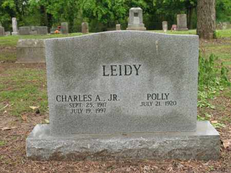 LEIDY, JR, CHARLES A - Jackson County, Arkansas | CHARLES A LEIDY, JR - Arkansas Gravestone Photos