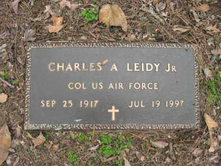 LEIDY, JR (VETERAN), CHARLES A - Jackson County, Arkansas | CHARLES A LEIDY, JR (VETERAN) - Arkansas Gravestone Photos