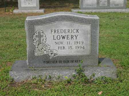 LOWERY, FREDERICK - Jackson County, Arkansas | FREDERICK LOWERY - Arkansas Gravestone Photos