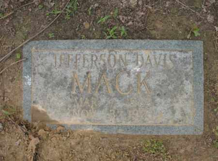 MACK, JEFFERSON DAVIS - Jackson County, Arkansas   JEFFERSON DAVIS MACK - Arkansas Gravestone Photos