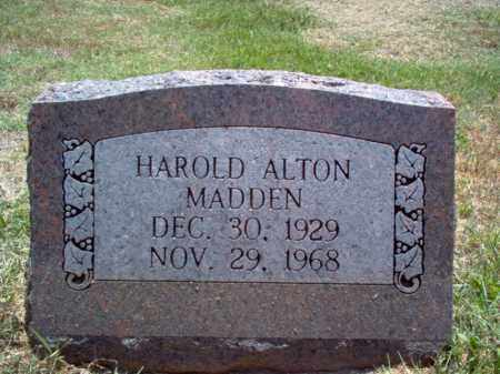 MADDEN, HAROLD ALTON - Jackson County, Arkansas | HAROLD ALTON MADDEN - Arkansas Gravestone Photos