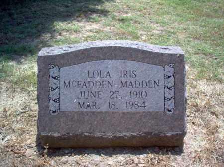MADDEN, LOLA IRIS - Jackson County, Arkansas | LOLA IRIS MADDEN - Arkansas Gravestone Photos