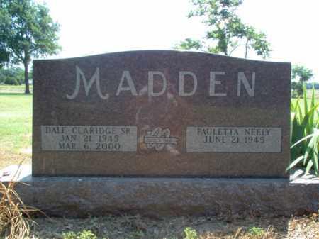 MADDEN, SR., DALE CLARIDGE - Jackson County, Arkansas | DALE CLARIDGE MADDEN, SR. - Arkansas Gravestone Photos