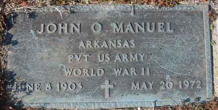MANUEL (VETERAN WWII), JOHN O - Jackson County, Arkansas | JOHN O MANUEL (VETERAN WWII) - Arkansas Gravestone Photos