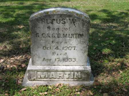 MARTIN, RUFUS W - Jackson County, Arkansas | RUFUS W MARTIN - Arkansas Gravestone Photos