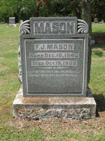 MASON, F J - Jackson County, Arkansas | F J MASON - Arkansas Gravestone Photos