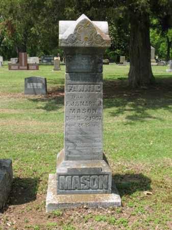 MASON, FANNIE - Jackson County, Arkansas | FANNIE MASON - Arkansas Gravestone Photos