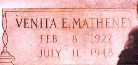 MATHENEY, VENITA E. - Jackson County, Arkansas | VENITA E. MATHENEY - Arkansas Gravestone Photos